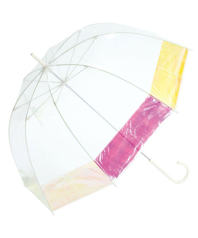 雨傘 ビニール傘 バードケージ オーロラ